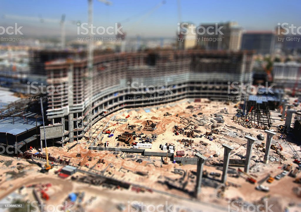 Construction Site Miniature royalty-free stock photo