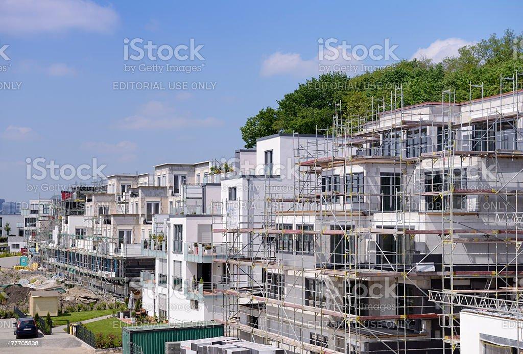 Construction site / Modern housing stock photo