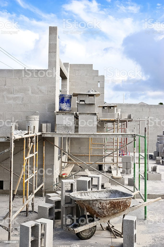 Construction Site of a new Home royalty-free stock photo