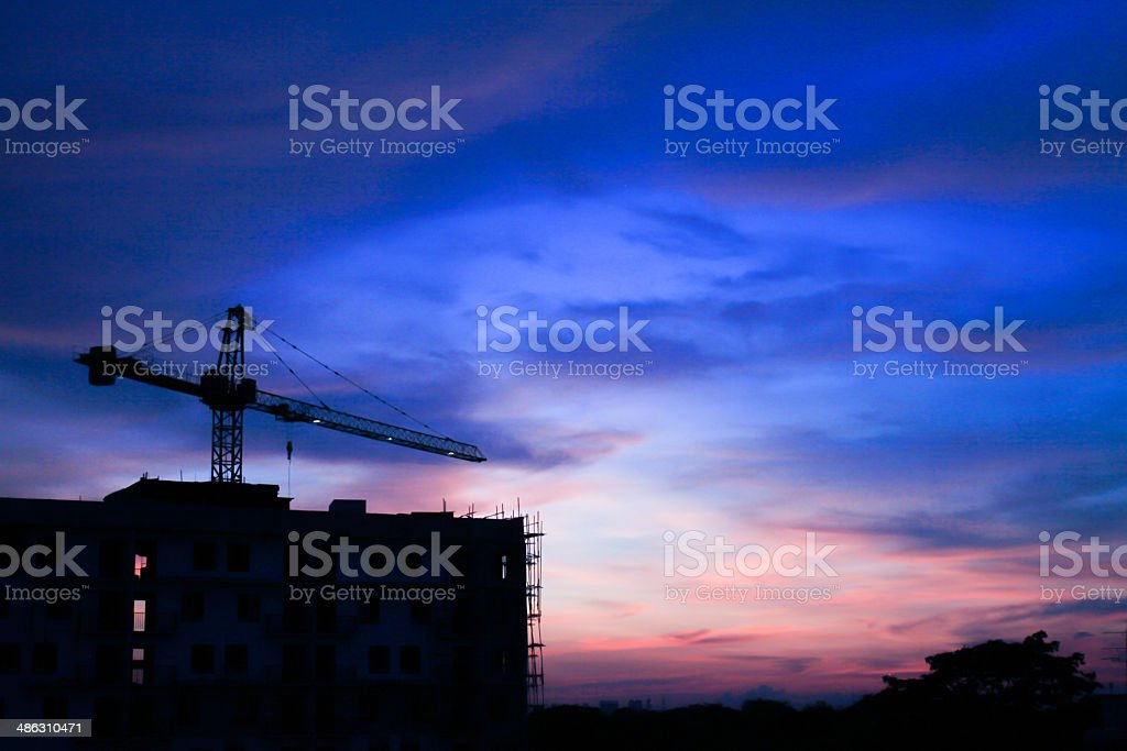 Construction site of building royalty-free stock photo
