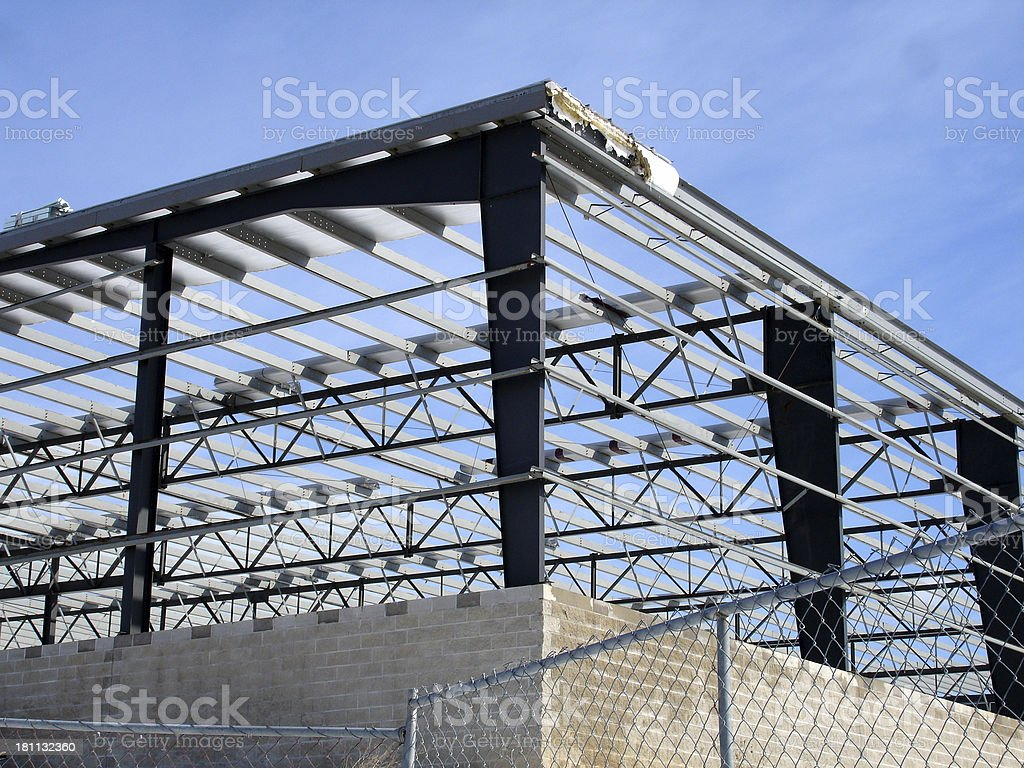 Construction site of ice rink royalty-free stock photo