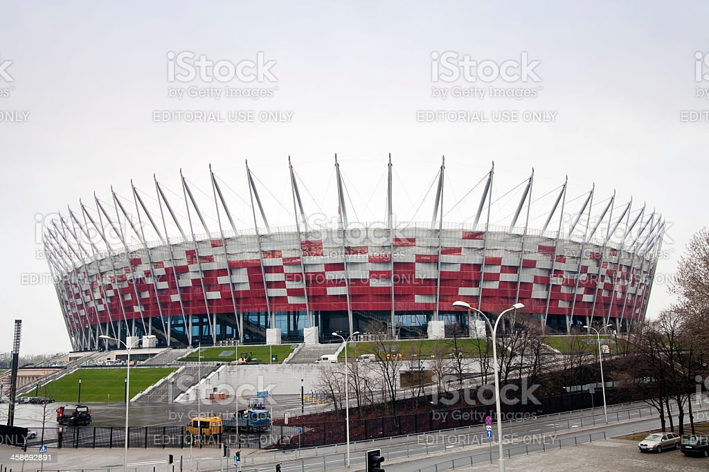 Construction site of National Stadium in Warsaw, Poland royalty-free stock photo