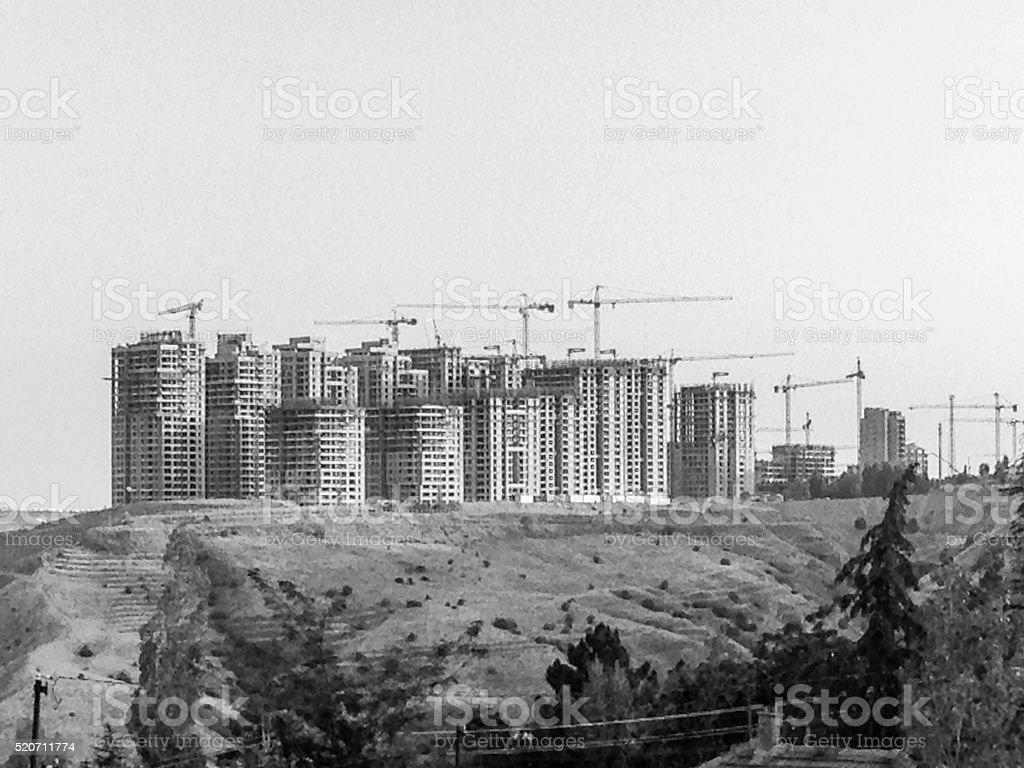 construction site of new housing complex at ankara turkey stock photo