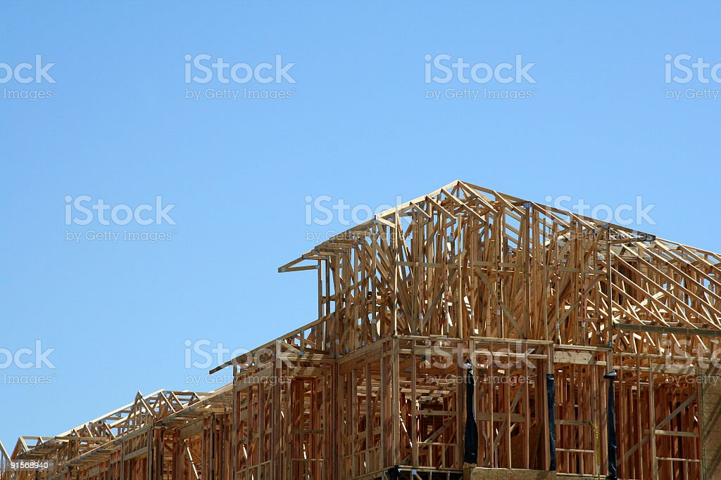 Construction Site on a blue sky stock photo