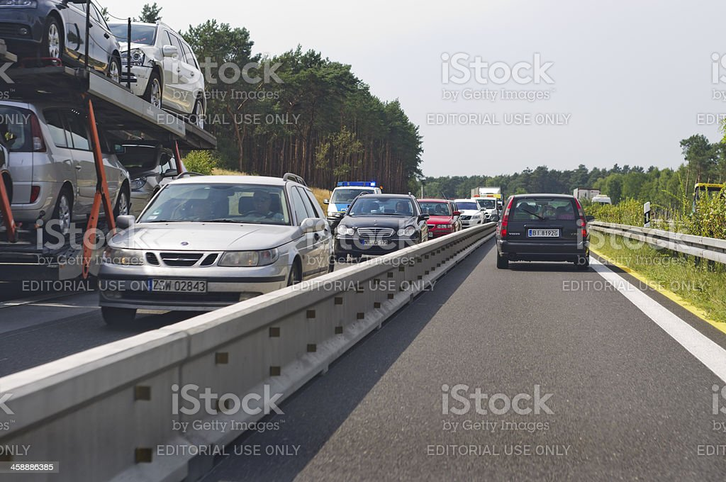 Construction site on a German motorway royalty-free stock photo