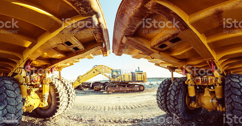 Construction Site Panoramic stock photo