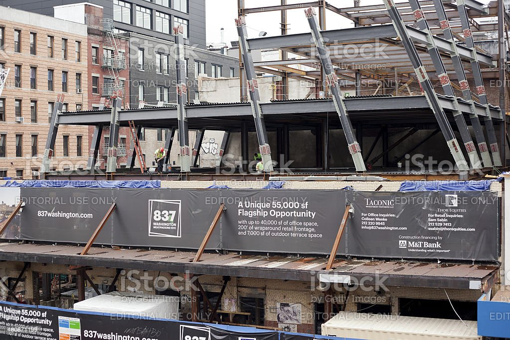 NYC Construction Site stock photo