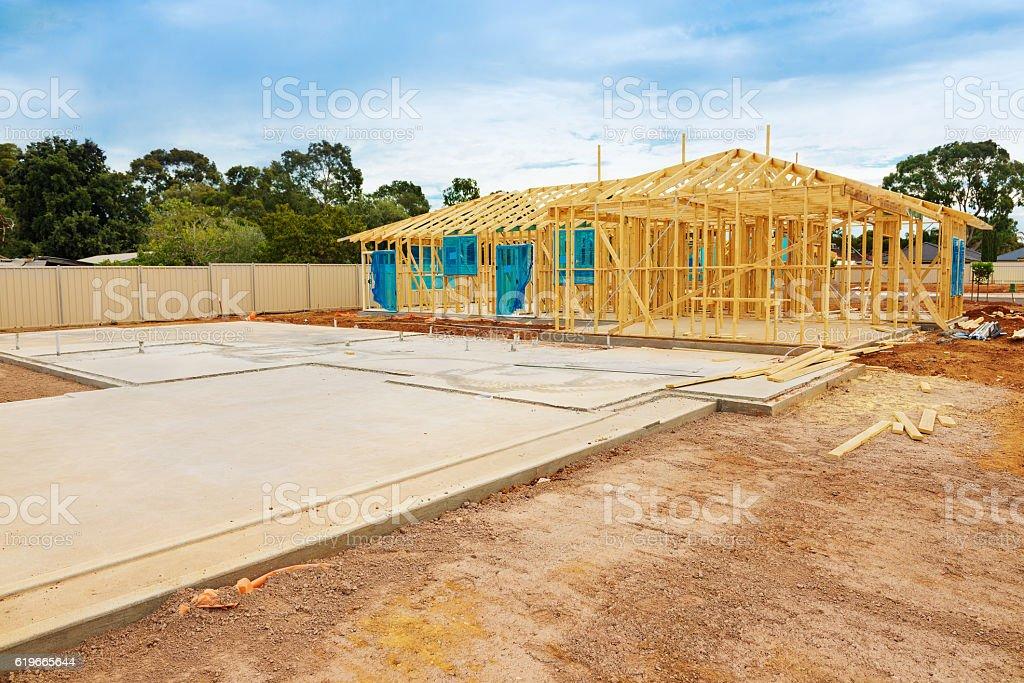 Construction site preparation stock photo