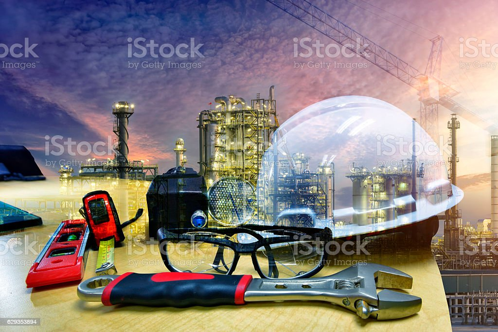 Construction site safety concept stock photo