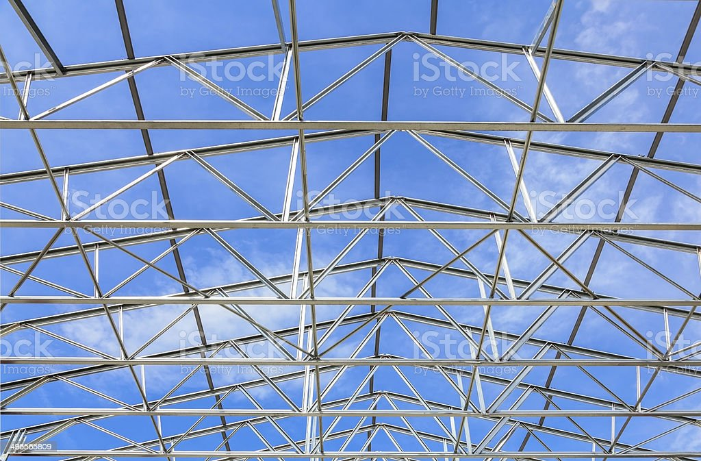 Construction Site - steel framing royalty-free stock photo
