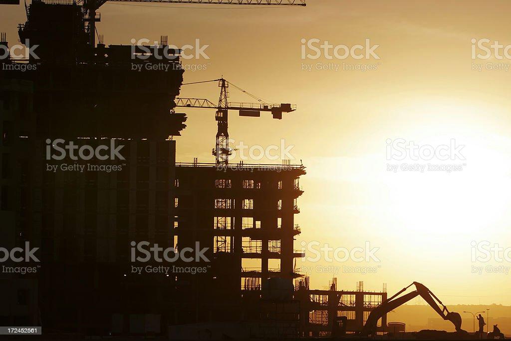 Construction Site Sunrise royalty-free stock photo
