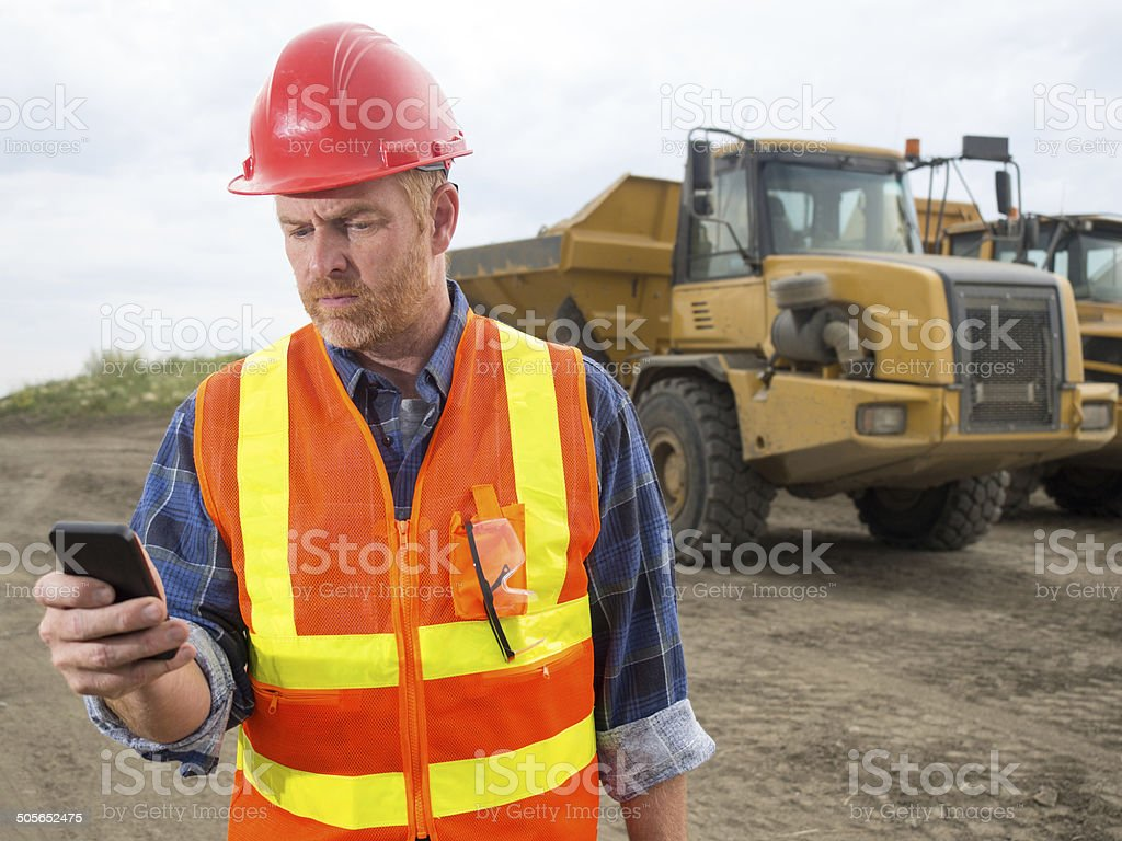 Construction Site Text royalty-free stock photo