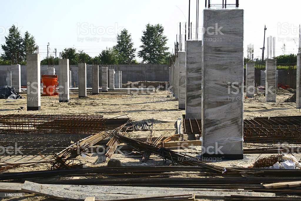 Construction site view royalty-free stock photo