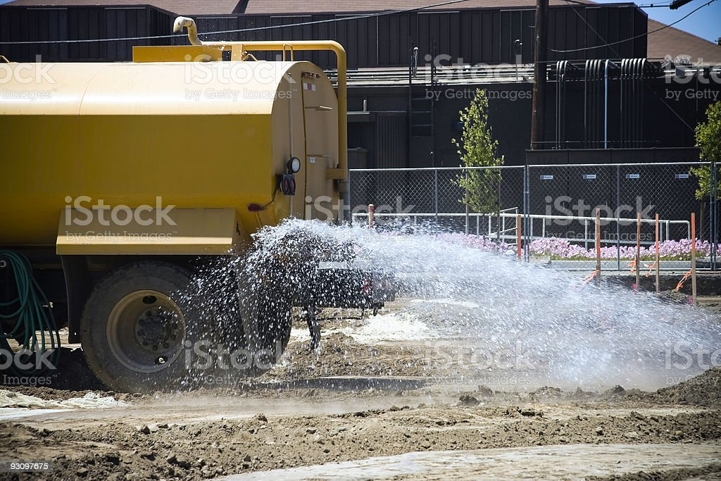 Construction Site Water Truck royalty-free stock photo