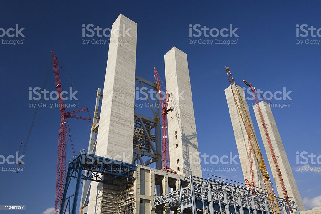 Construction Site With Blue Sky royalty-free stock photo