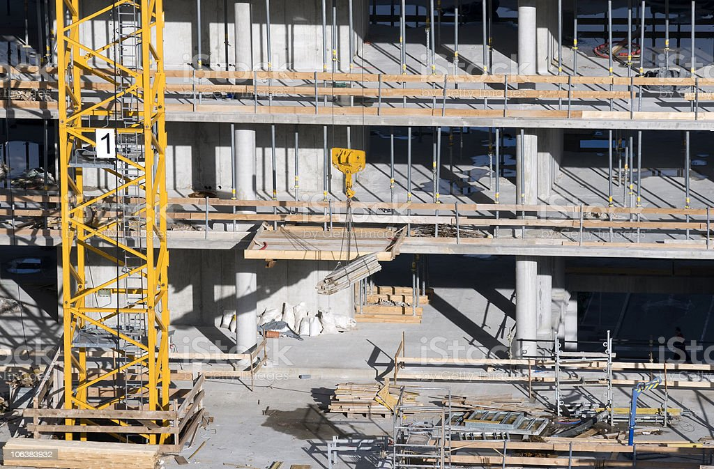 Construction Site with Crane royalty-free stock photo
