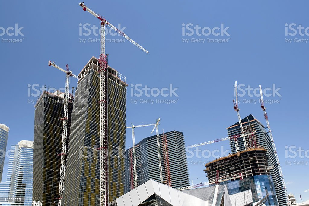 construction site with cranes royalty-free stock photo