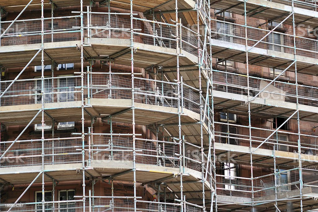 Construction Site with Scaffolding royalty-free stock photo