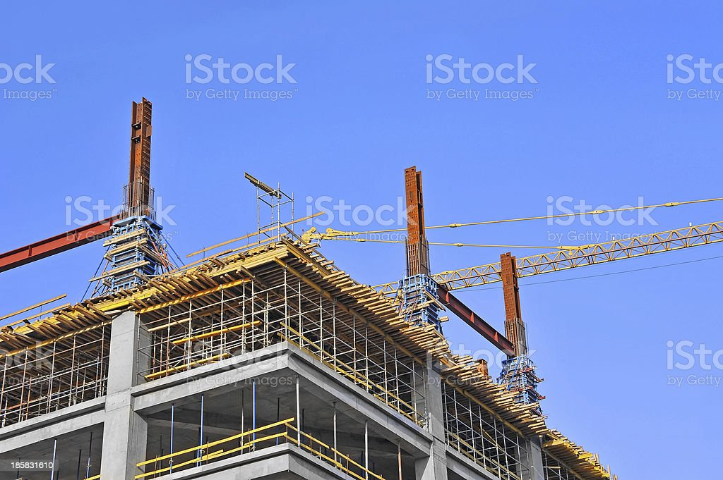 Construction site work royalty-free stock photo