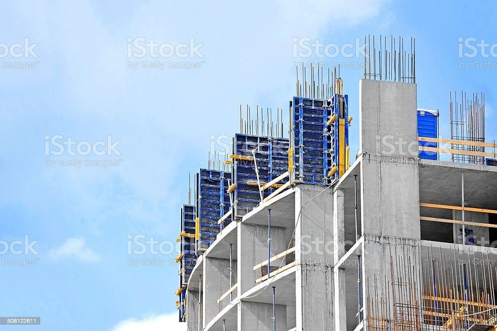Construction site work stock photo