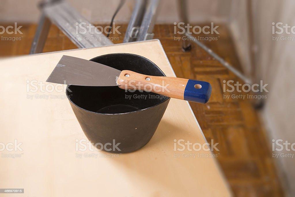 construction spatula royalty-free stock photo