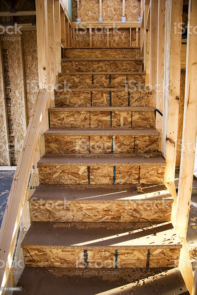 Construction, Stairs, New home royalty-free stock photo