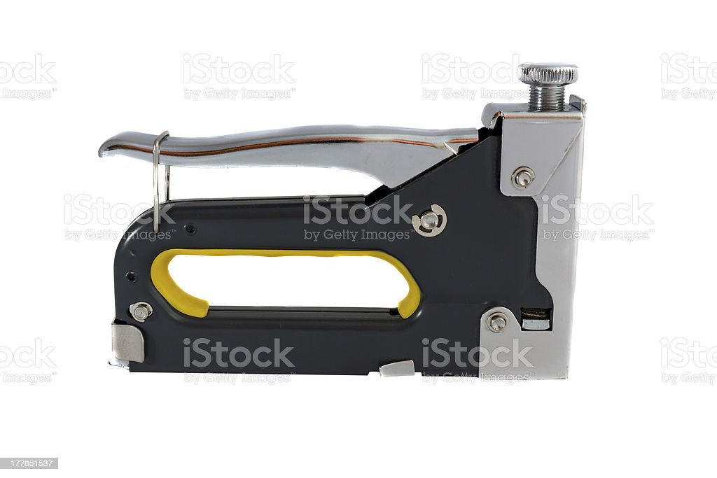 Construction stapler royalty-free stock photo