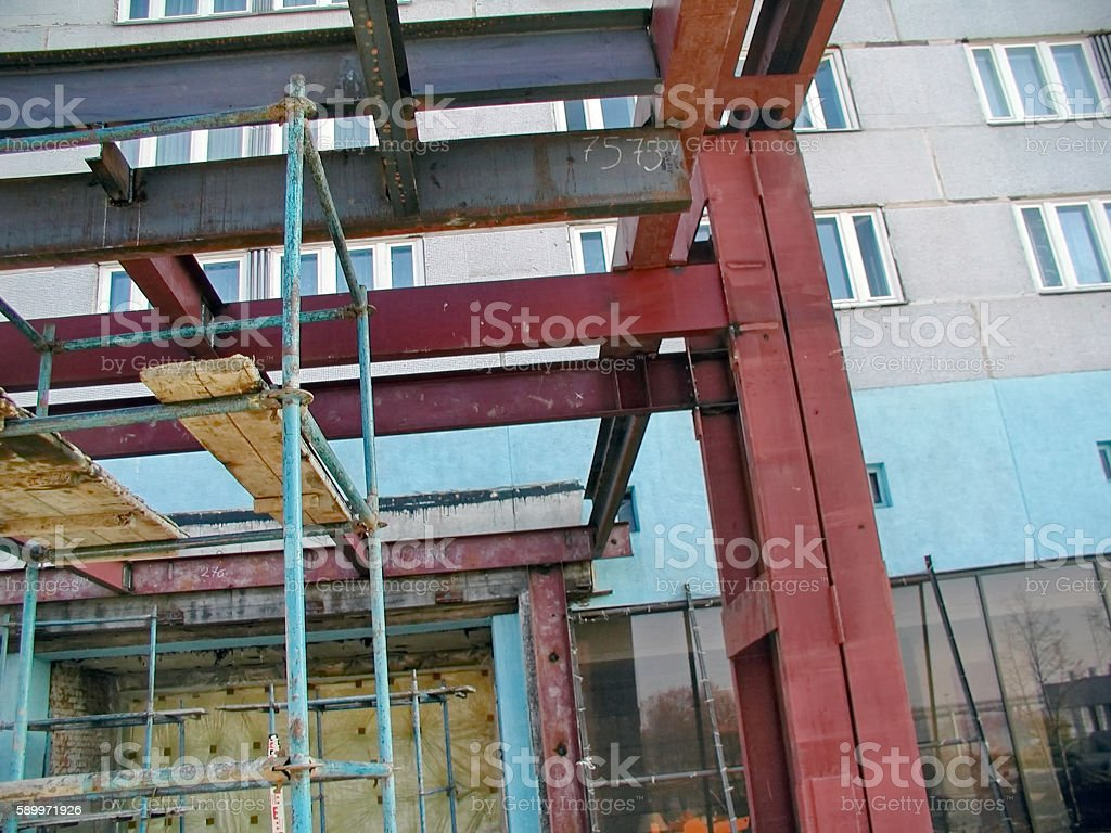 Construction Steel Frame stock photo