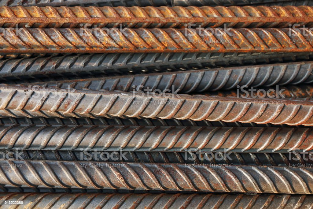 construction steel rod for pattern and background stock photo
