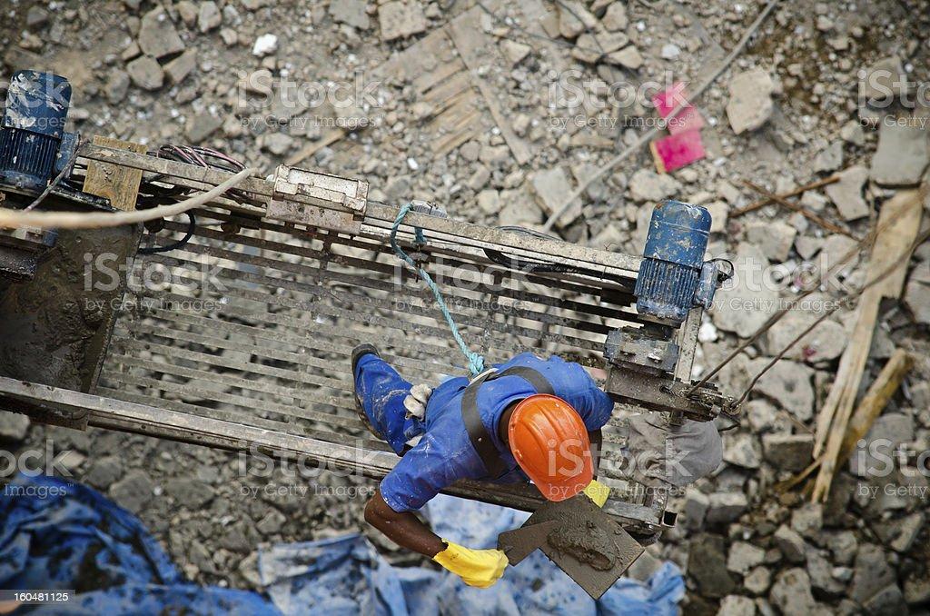 Construction Steeplejack stock photo