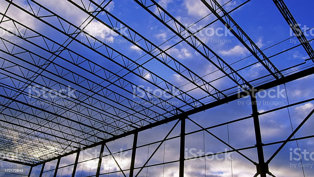 Construction Sunrise royalty-free stock photo