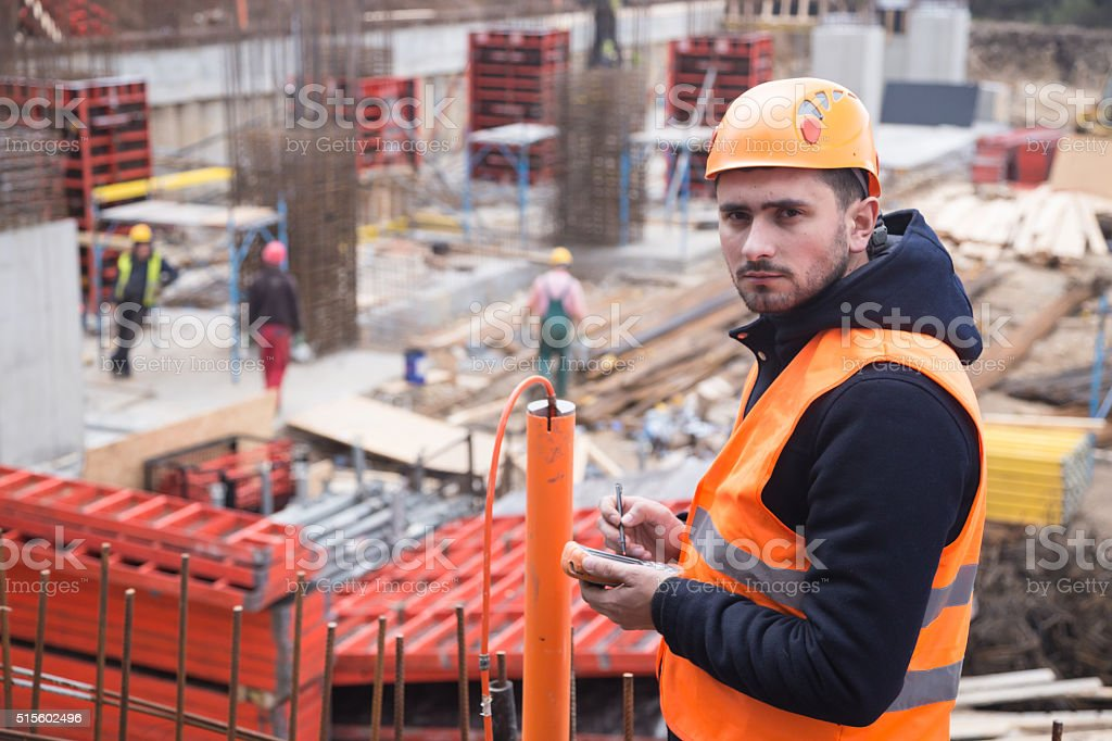 Construction Supervision stock photo