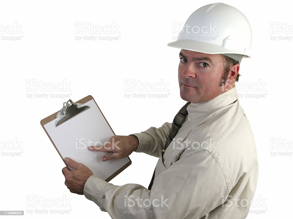 Construction Supervisor - Concerned royalty-free stock photo