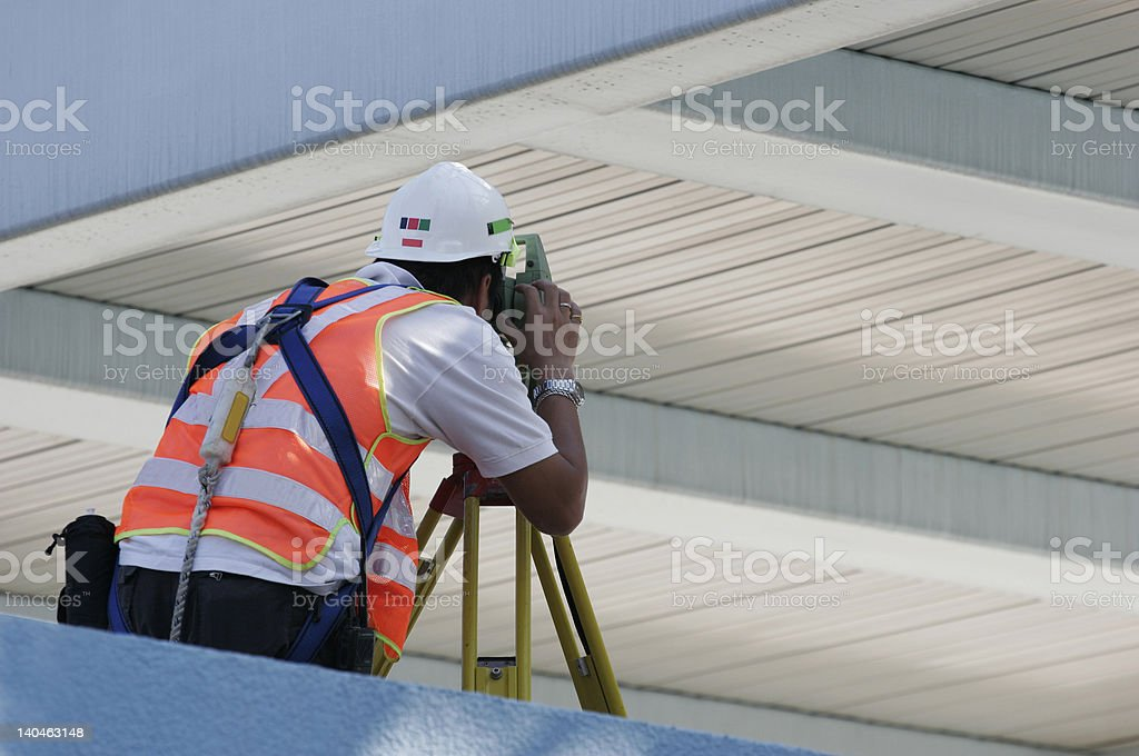 Construction surveyor stock photo