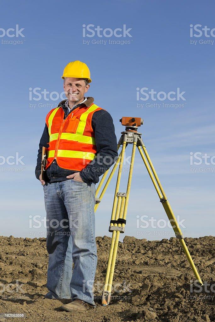 Construction Surveyor royalty-free stock photo