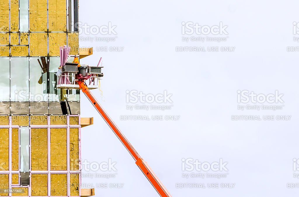 Construction Complexe Synergia, LEED stock photo