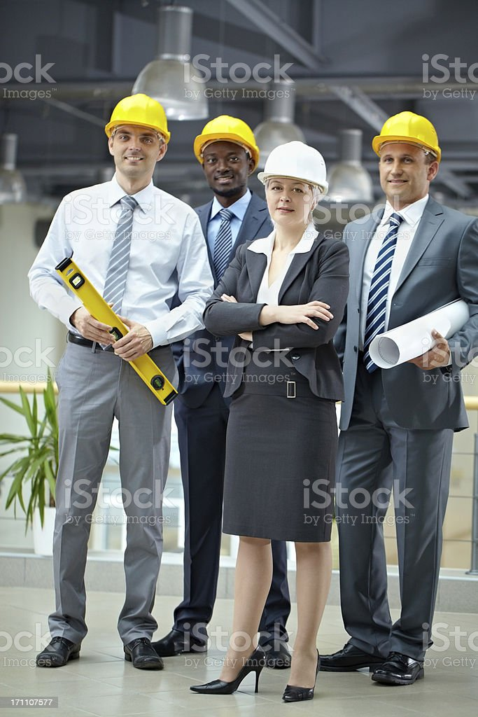 Construction team stock photo