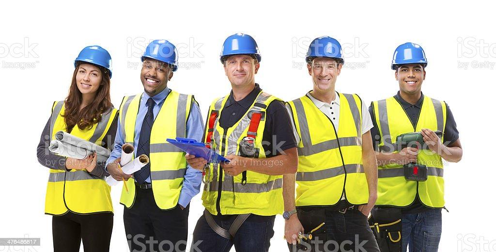 construction team royalty-free stock photo