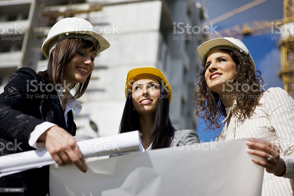 Construction teamwork royalty-free stock photo