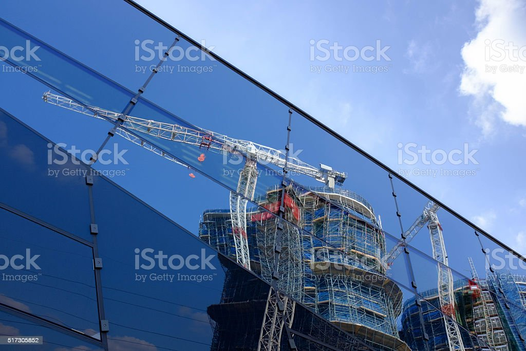 Construction The Crystal stock photo