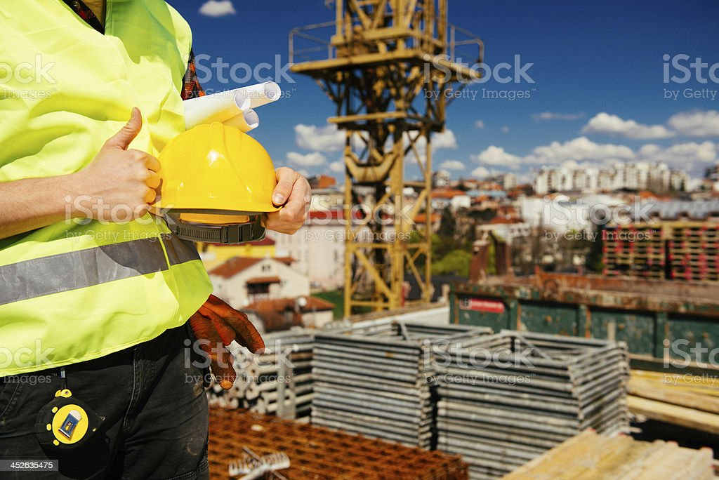 Construction Thumbs Up royalty-free stock photo