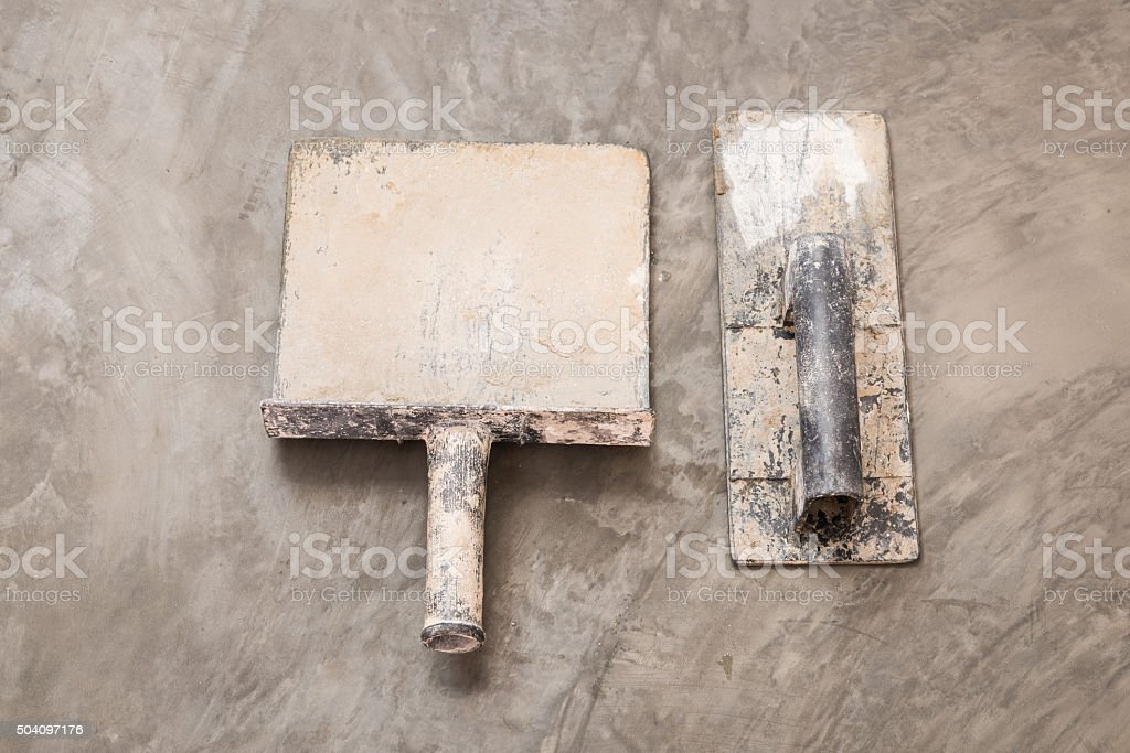 construction tools for concrete job stock photo