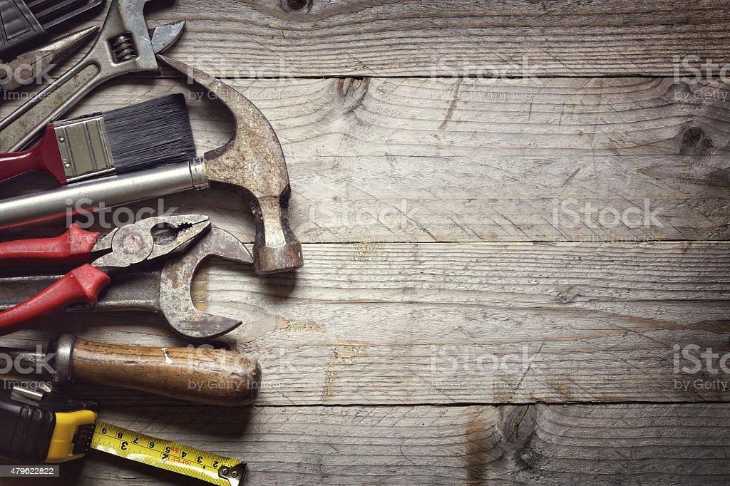 Construction tools royalty-free stock photo