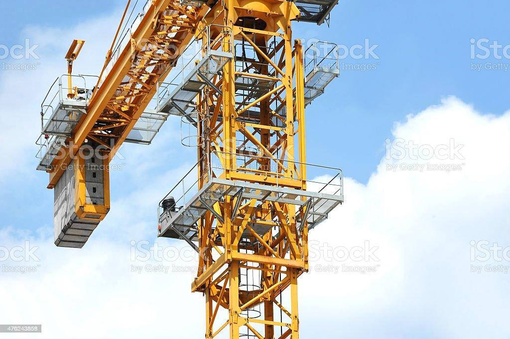 Construction tower crane stock photo