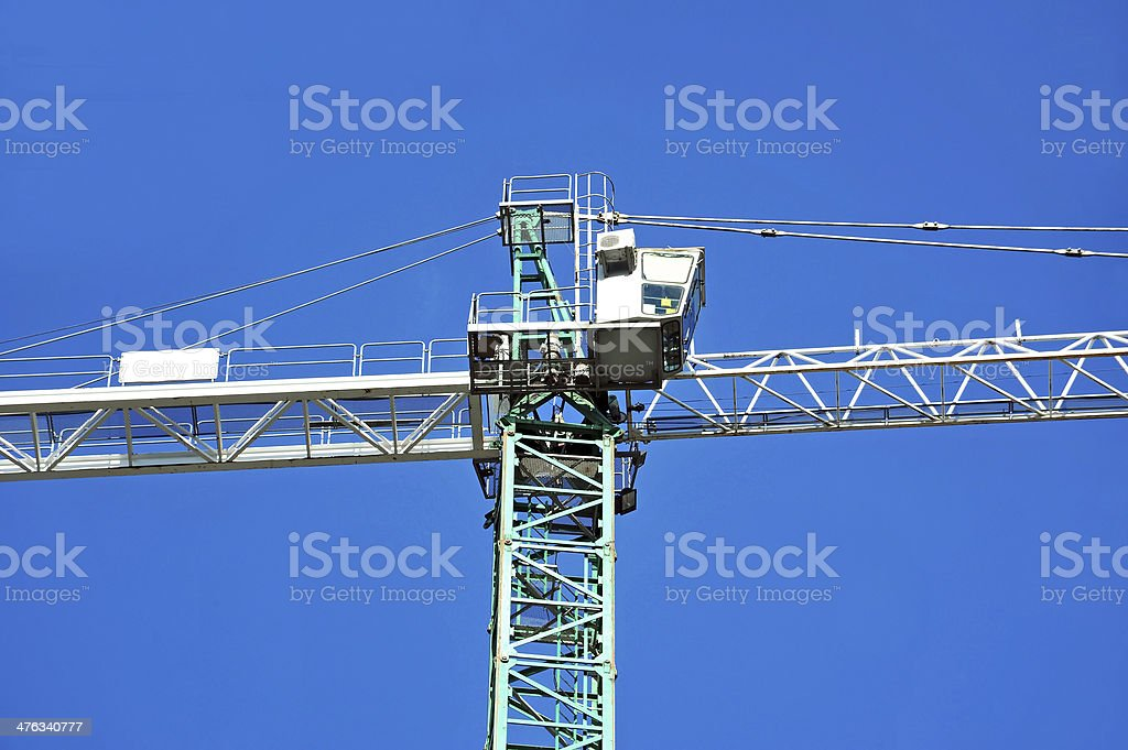 Construction tower crane royalty-free stock photo