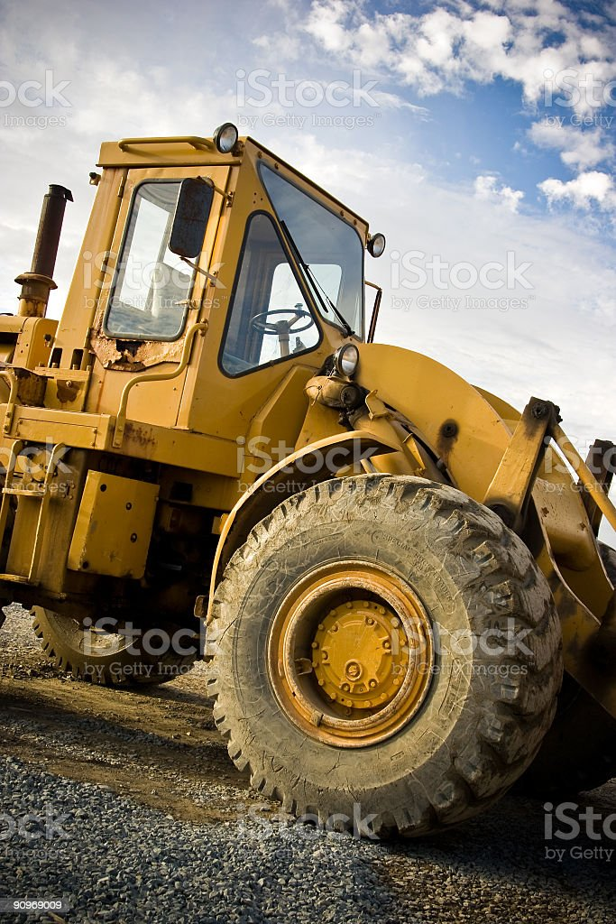 Construction Tractor royalty-free stock photo