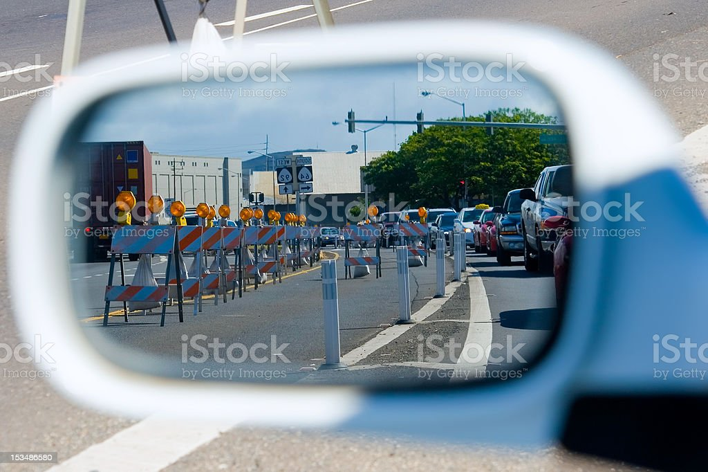 Construction Traffic royalty-free stock photo