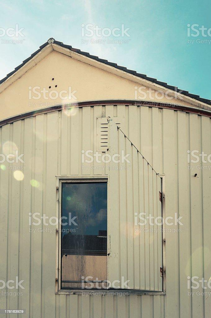 Construction trailer royalty-free stock photo