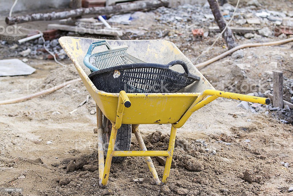 Construction trolley. royalty-free stock photo