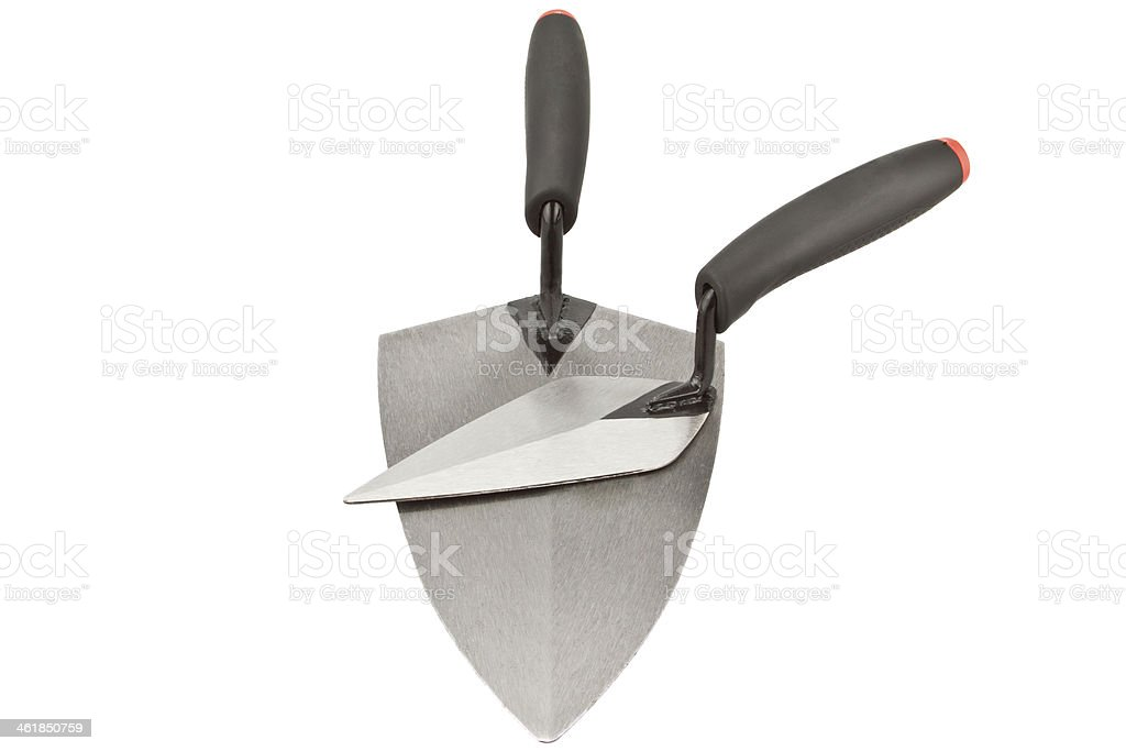 Construction trowels royalty-free stock photo